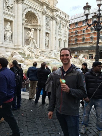 Gelato at Trevi Fountain